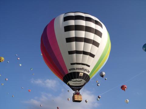 Rainbow ballon